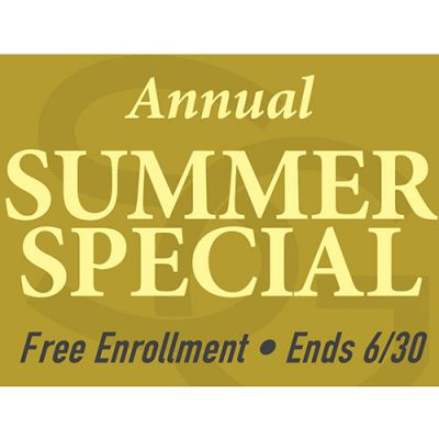 annual summer special gym membership