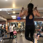 christina doing a pullup